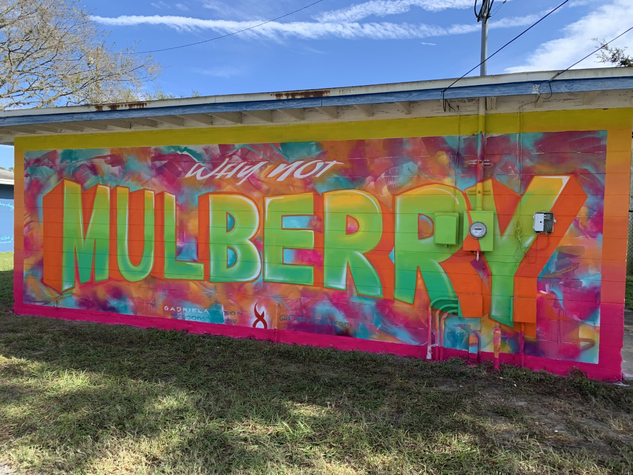 Mural with Why Not Mulberry