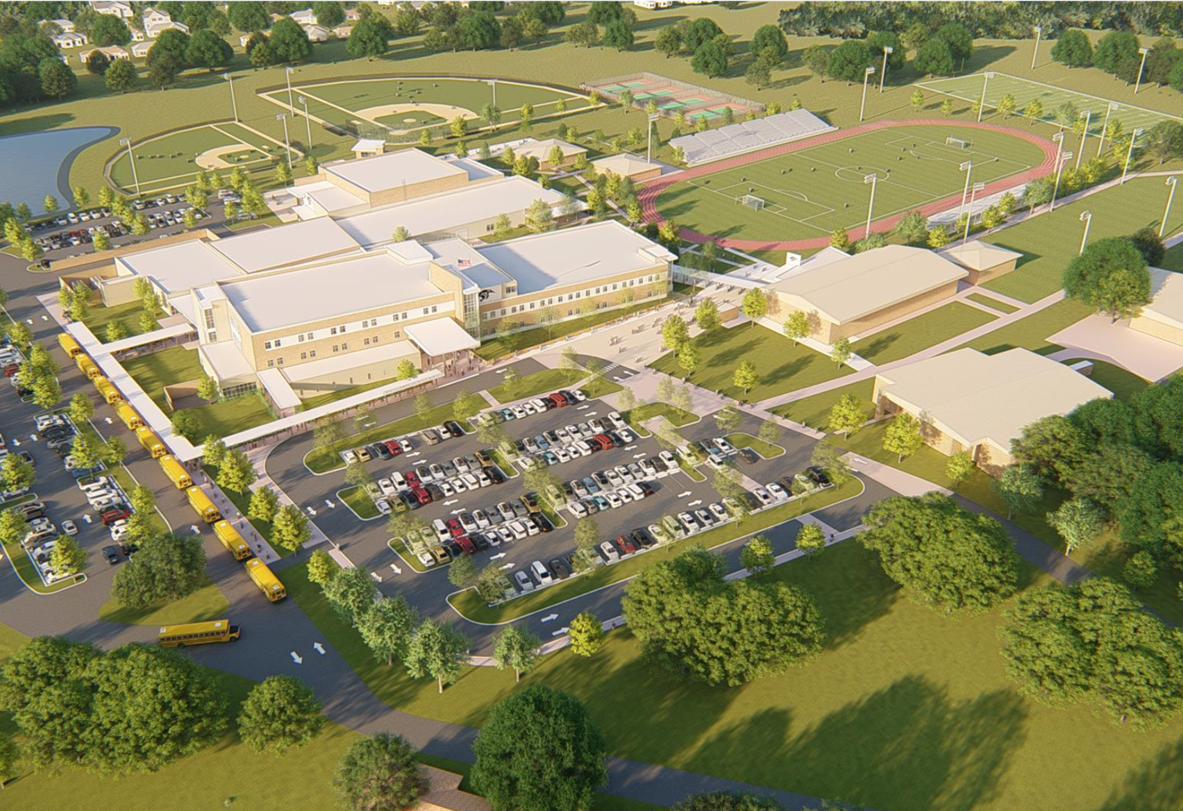 Mulberry High School New Campus Rendering