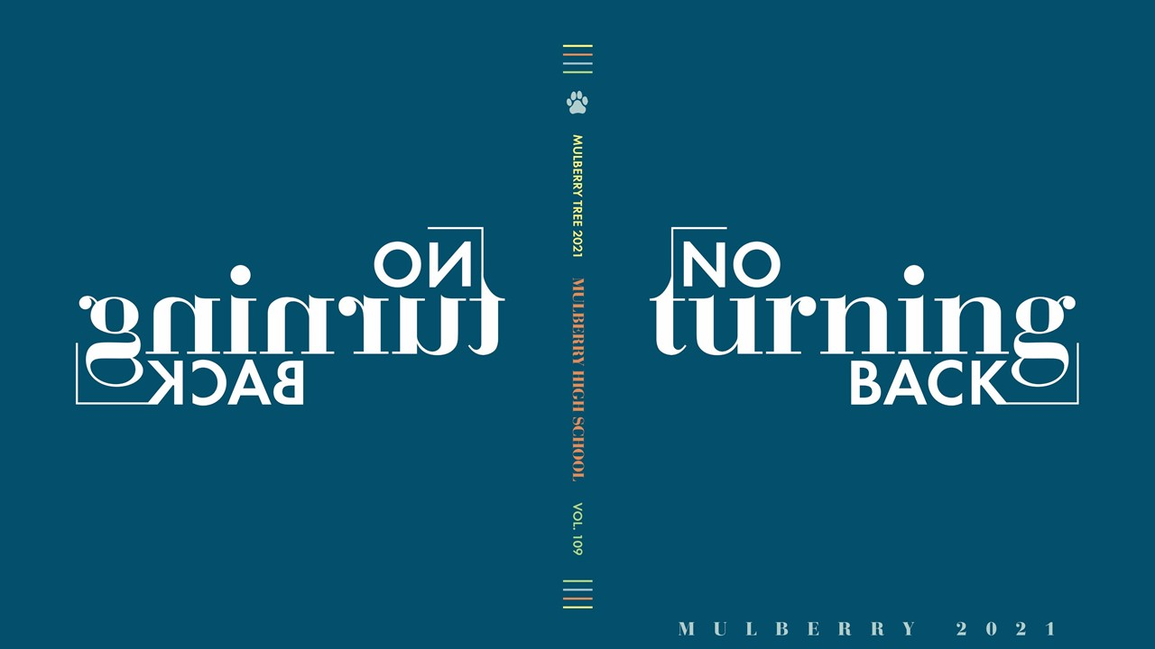 No Turning Back text mirror image